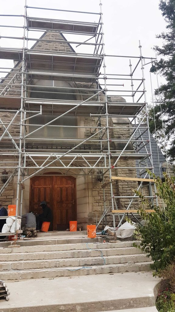 Young Chapel - exterior work in progress - Robyn Huether Architect