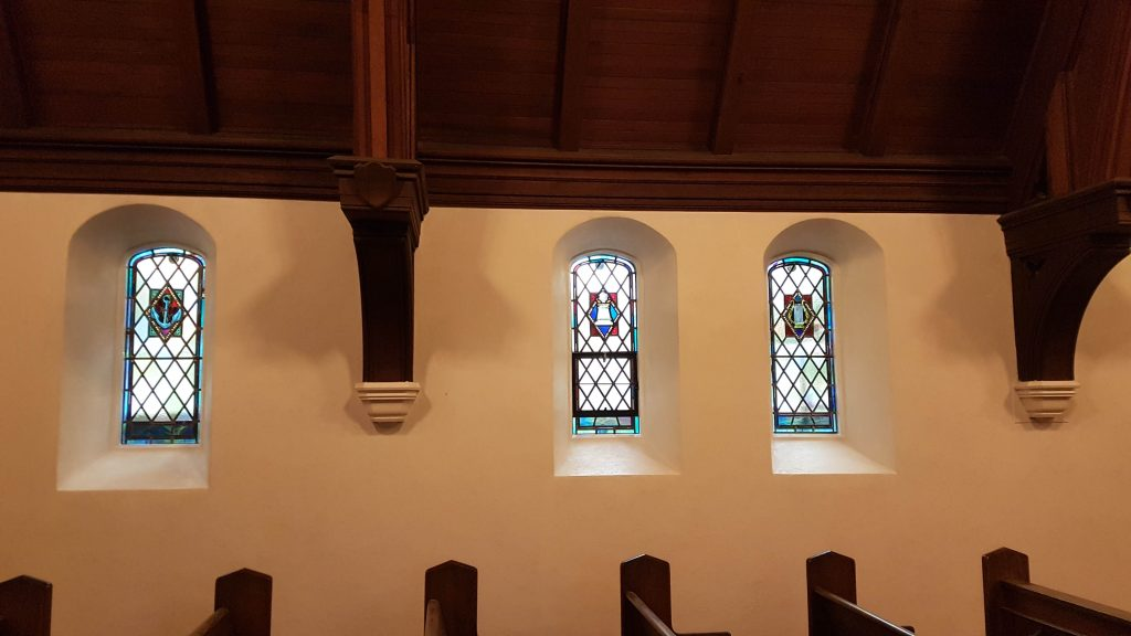 Young Chapel - stain glass interior - Robyn Huether Architect
