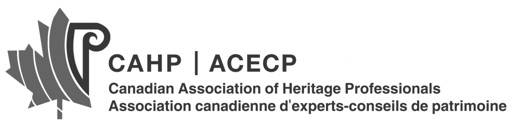 Canadian Association of Heritage Professionals Logo - Robyn Huether Architect